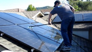 cleaning solar panels